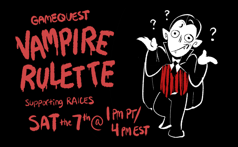 Vampire the Masquerade: Bloodlines – RAICES Charity Stream
